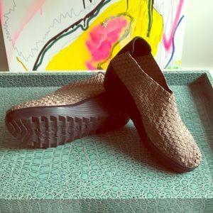 Gold Mesh Woven Boots